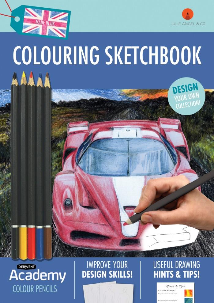 Colouring Sketchbook Blue by Julie Angel