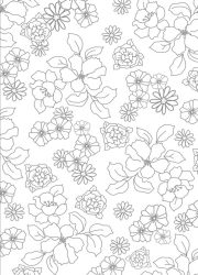 floral-pattern outline for colouring