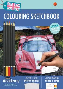 Colouring Sketchbook Blue by Julie Angel