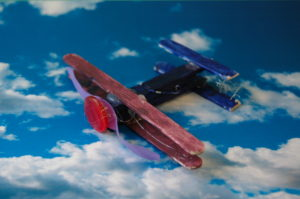 Wooden Recycled planes with peg and lolly sticks