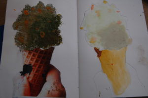 Year 5 Food Project Pistachio ice-cream pulp sculpture