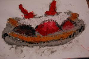 Year 5 Food Project Pistachio Banana boat ice-cream pulp sculpture