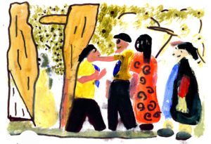 A Fight by LS Lowry and Yr 4 Pupils