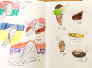 Example from Teach Your Class To Draw Lesson 4 Year 4 Week 3 Softening Shapes
