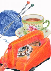 Everyday objects colour pencil drawings www.teachyourclasstodraw.com